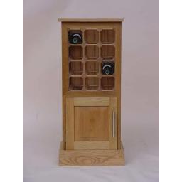 12 BOTTLE WINE CABINET WITH CUPBOARD - winestorageuk