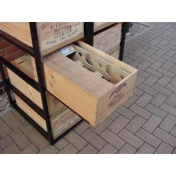 Metal wine case rack - winestorageuk