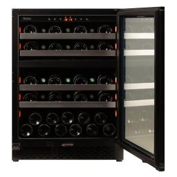 Pevino PNG46D-HHB Wine Fridge - 39 bottle - Built In - 2 Zone Wine cooler - 595mm Wide - Black - winestorageuk