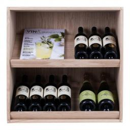 Caverack - ANDINO DISPLAY - 14 bottle wine rack - Oak - winestorageuk