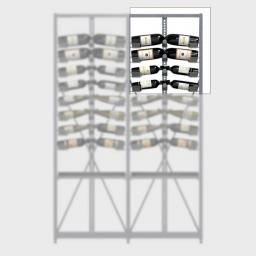 Xi Top - Extension - 4 standard shelves - 52 bottle wine rack - winestorageuk