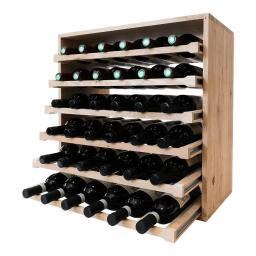Caverack - LEO - 36 bottle wine rack - Oak - winestorageuk