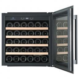 CaveCool Morion Dravite Wine Fridge - 36 bottles - Dual zone integrated wine cooler - 545mm Wide - Black - winestorageuk