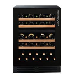 Swisscave WLB-160DF - Black Edition Dual Zone - Built In Wine Cooler / Wine Fridge (40-50 BOT) - 595mm Wide - winestorag