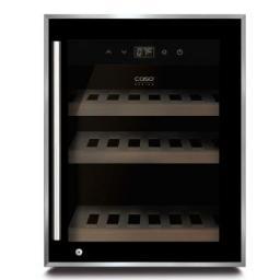 CASO WineSafe 12 black - Single Zone Wine Cooler / Wine Fridge - 12 bottles - 395mm wide - winestorageuk