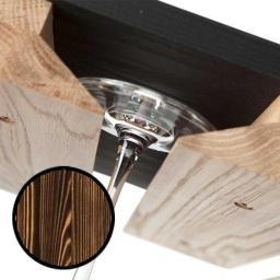 Caverack - Glass holder - Burned pine - winestorageuk