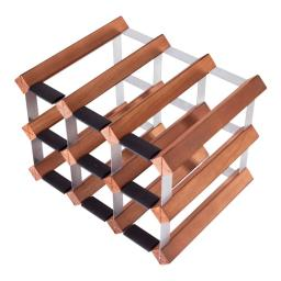 Mensolas - 9 Bottle Wine Rack - Dark Pine - winestorageuk