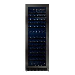 Pevino PNG180D-HHBS Wine Fridge - 190 bottles - 2 zone wine cooler  - 595mm Wide - Black Steel Front