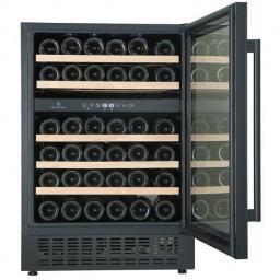 CaveCool Affection Jargon Wine Fridge - 46 bottles - 2 zone Built In Wine Cooler - Black - 595mm Wide - winestorageuk