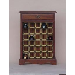 DECORATIVE WINE CABINET WITH DRAWER - winestorageuk