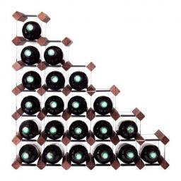 Mensolas - Stairs - 27 bottle wine rack - Dark Stained Pine - winestorageuk