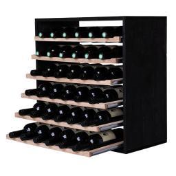 Caverack - LEO - 36 bottle wine rack - Black - winestorageuk
