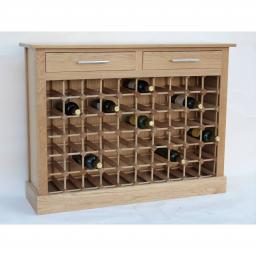 60 BOTTLE WINE CABINET WITH DRAWERS - winestorageuk