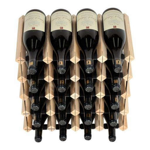 Mensolas - 20 Bottle Wine Rack - Pine - winestorageuk