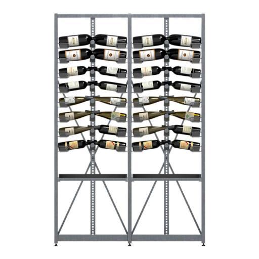 Xi Rack - Combination B - 16 standard shelves + 2 Pull-out shelves for boxes - 208 bottle wine rack