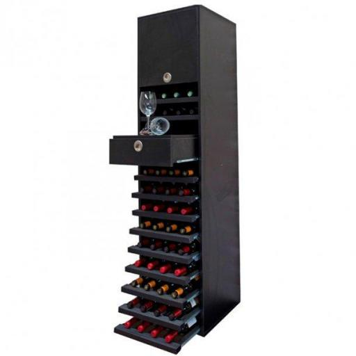 RENATO wine rack JOST combination, holds 44 bottles