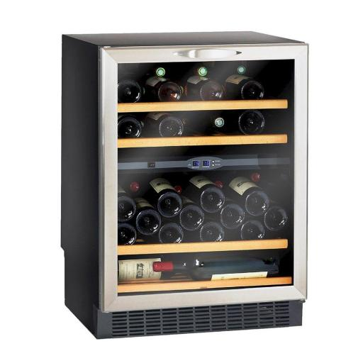 Climadiff - CV52IXDZ - Dual Zone - Under Counter Wine Service Cellar / Wine Cooler - 50 Bottles - 595mm Wide