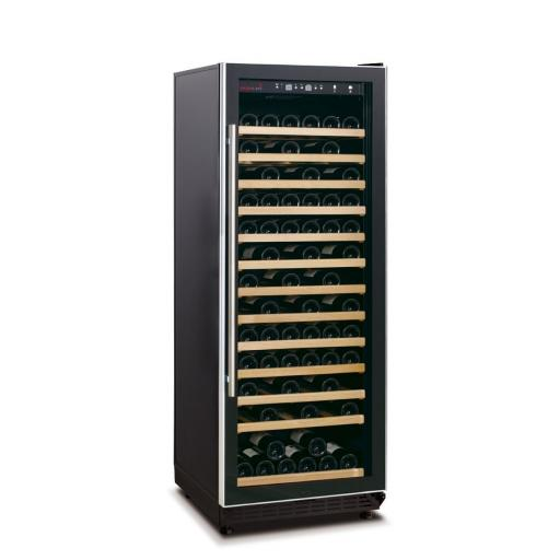 Swisscave WL350F Single Zone Wine Cooler / Wine Fridge (107-127 BOT) with efficient cooling system - 600mm Wide
