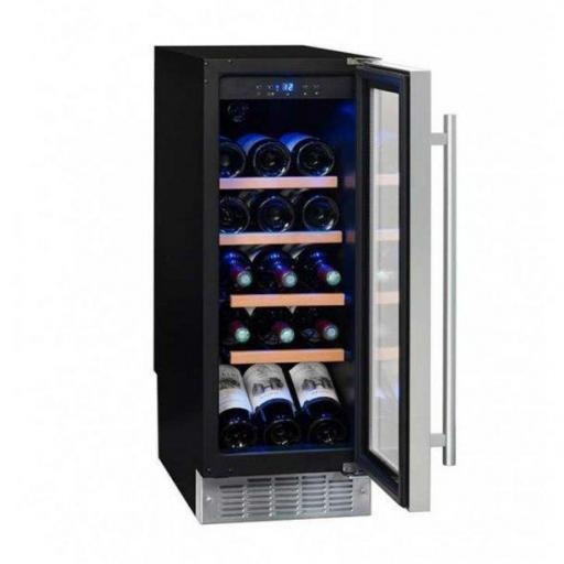 La Sommeliere CVDE21 - Wine Fridge - Single Zone Wine Cooler Under Counter 290mm - 21 Bottles