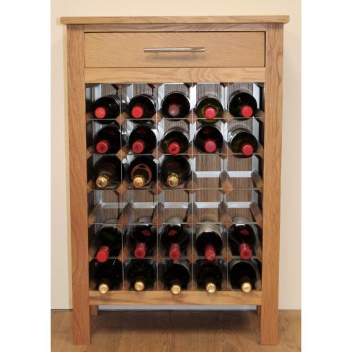 30 BOTTLE WINE CABINET WITH DRAWER - winestorageuk