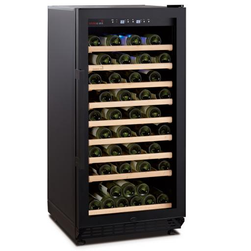 Swisscave WLB-250F - Black Edition - Single Zone Wine Cooler / Wine Fridge (70-90 BOT) - 600mm Wide