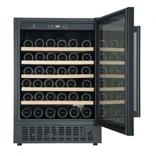 CaveCool Affection Jargon Wine Fridge - 54 bottles - 1 Zone Built In Wine Cooler - Black - 595mm Wide