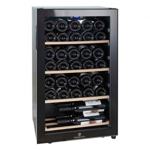 Cavecool Chill Ruby Wine Fridge - 34 bottles - Single zone Wine cooler - Black