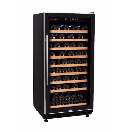 Swisscave WL250F - Single Zone Wine Cooler / Wine Fridge - (70-90 BOT) - 600mm Wide