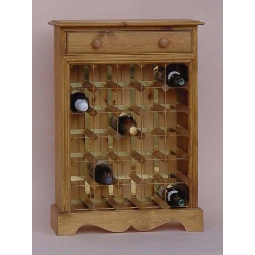 30 Bottle Decorative wine cabinet with drawer