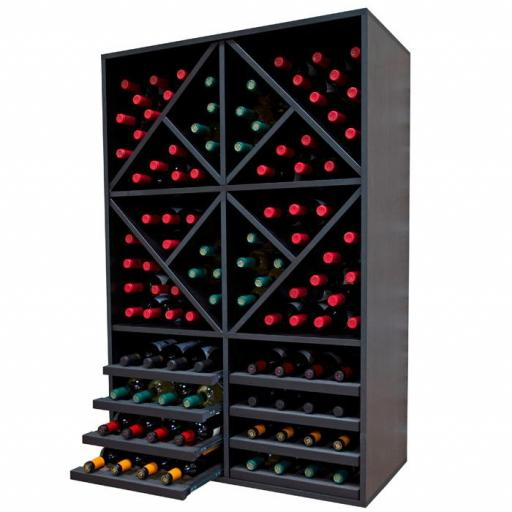 RENATO Wine Rack JENARO 6 modules, holds 112 bottles