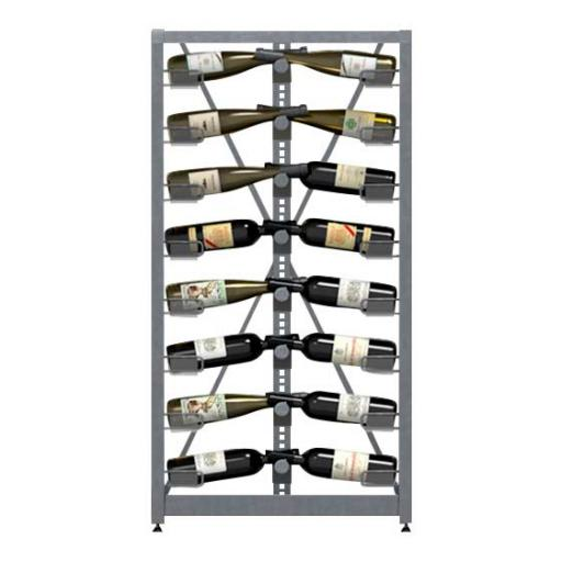 Xi Counter - 4 standard shelves - 52 bottle wine rack
