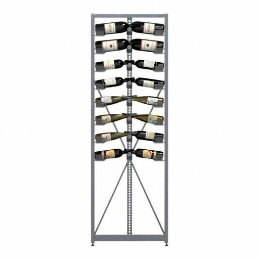 Xi Rack - Combination A - 8 standard shelves - 104 bottle wine rack