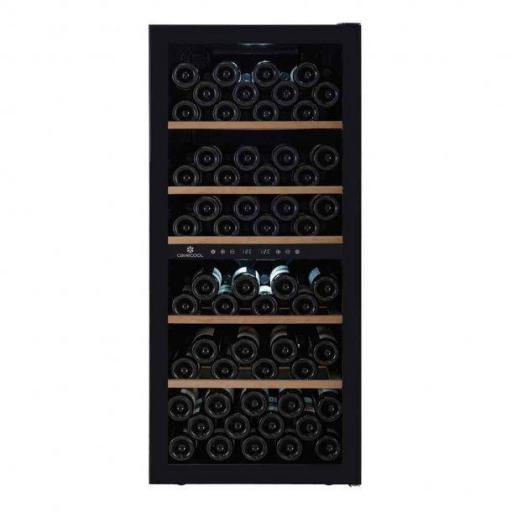 Cavecool Chill Sapphire Wine Fridge - 102 bottles - Dual zone Wine cooler - Black