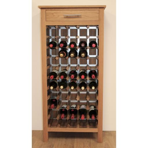 50 Bottle wine cabinet with drawers
