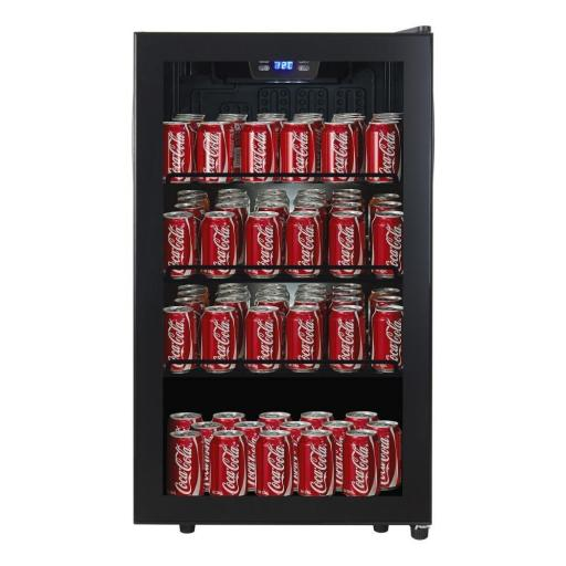 Cavecool Chill Display - CC34SB-CD -145 cans - Single zone - Black