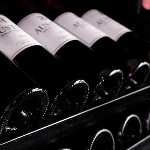 Pevino PNG120S Wine Fridge - 130 bottle - single zone wine cooler - 595mm Wide  - Black - winestorageuk