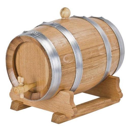 10 liter French oak wine barrel