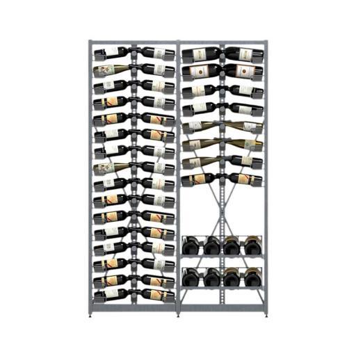 Xi Rack - Combination C - 24 standard shelves + 2 DoubleM - 318 bottle wine rack - winestorageuk
