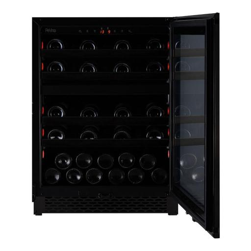 Pevino -  PNG46D-HHBS - Built in Wine cooler / Wine Fridge - 39 bottles - 2 zones - Black steel - 595mm Wide - winestora