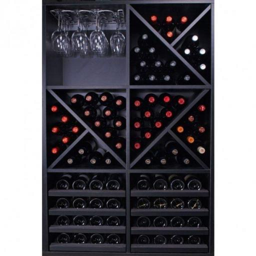 RENATO Wine rack Jerico 6 modules for 92 bottles