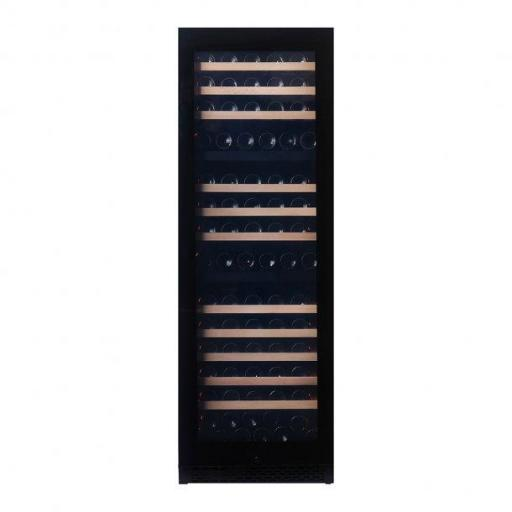 Pevino  PNG180T-HHB -  3 zone - Freestanding Wine Cooler / Wine Fridge - Black glass front -180 Bottles - 595mm Wide - w