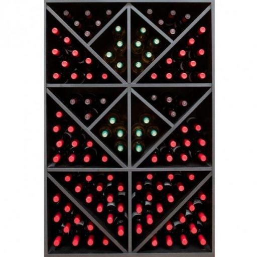RENATO Wine rack JAX pre-assembled modules, holds 124 bottles