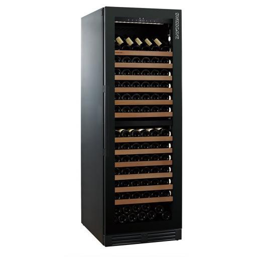 Swisscave WLB-460DF - Black Edition Dual Zone Wine Cooler / Wine Fridge (168 - 200 BOT) - 595mm Wide