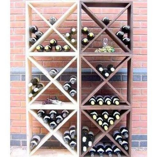 Wine Storage Cube Pine - 24 Bottles - winestorageuk