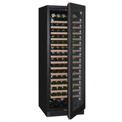 Pevino PNG180S-HHB Wine Fridge - 200 bottle - 1 zone wine cooler - 595mm wide - Black
