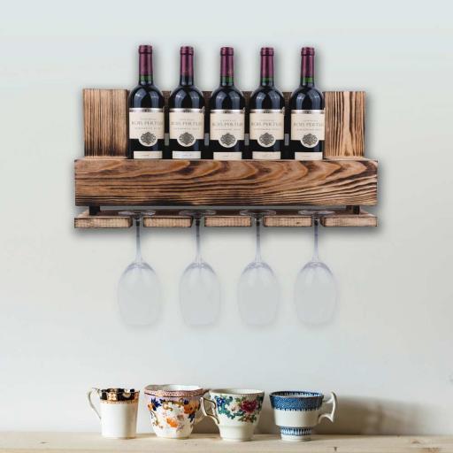 Vinobarto Freja - Wood Burned Pallet - Small model - Wine rack