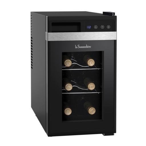 La Sommeliere - LS8K - Single Zone - Counter top Wine Cellar / Wine Cooler - 8 Bottles - 255 Wide - winestorageuk