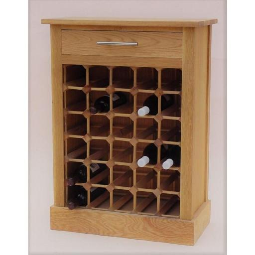 30 Bottle wine cabinet with drawer
