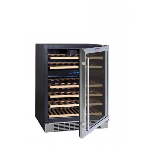 La Sommeliere - CVDE46-2 - Dual Zone - Under Counter Wine Cooler / Wine Fridge - 46 Bottles - 595mm Wide