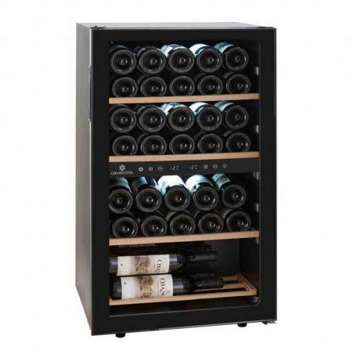 Cavecool Chill Topaz Wine Fridge - 62 bottles - Dual zone wine cooler - Black